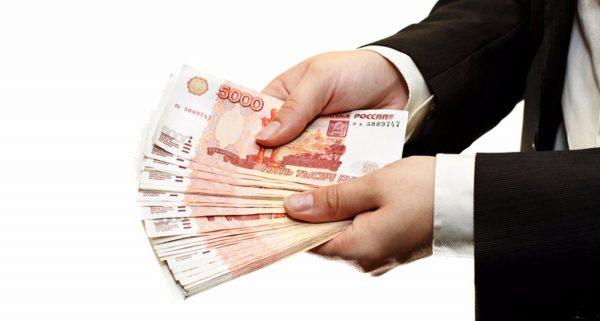 Hand with money cash